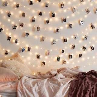 lampu tumblr + wooden clip