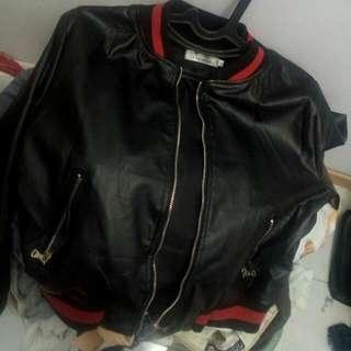 Jaket Gucci Replika Leather