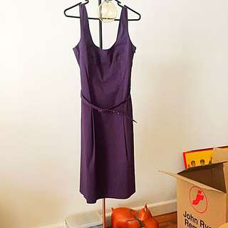 Cue Purple Dress Size 10