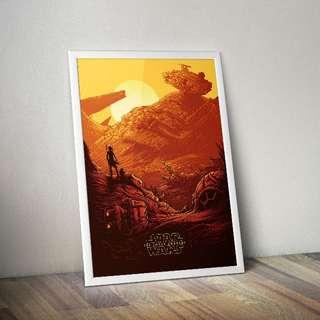 Star Wars IMAX movie poster.