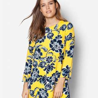 Warehouse Yellow Floral Shift Dress