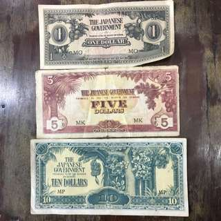 Old Japanese Notes 1 Set