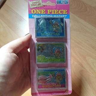 Rare! One Piece Singapore Chopper Magnet Set
