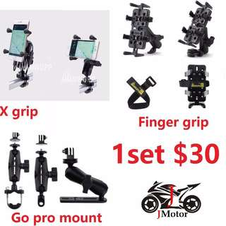 "MWUPP ""X"" Grip / HP / HANDPHONE / GPS Holder finger motorcycle motorbike"