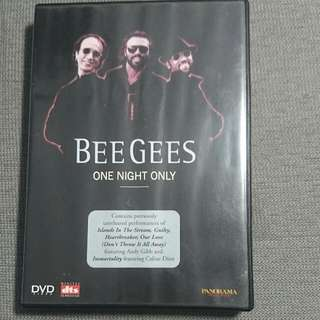 正版BeeGees ONE NIGHT ONLY演唱會DVD