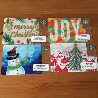 SG 2016 Starbucks Christmas Card Collection