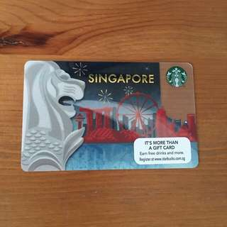 SG Starbucks Merlion Card