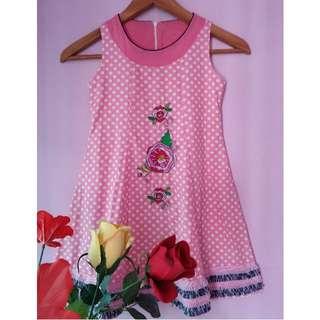 Tweety Bird Girl Embroidered Dress