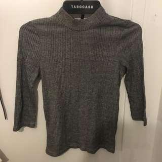 Glassons; grey three quarter sleeve shirt