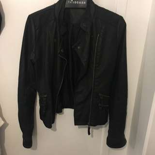 Just Jeans; Leather biker jacket