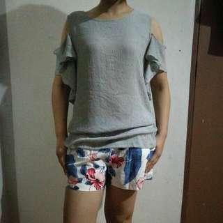 Korean Blouse And Shorts
