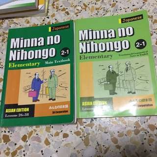 Minna no nihongo 2-1