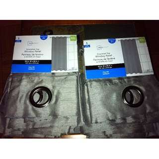 MAINSTAYS GROMMET TOP WINDOW PANEL - NEW- ONLY $10 Each