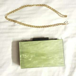 Jade Green Dinner Clutch