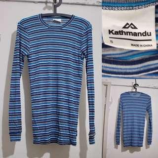 KATHMANDU Blue Striped Top