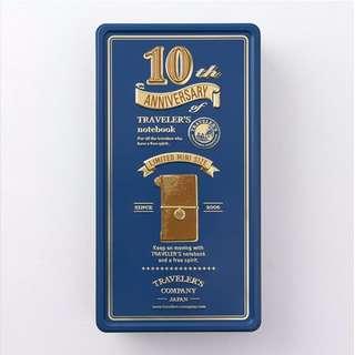 TRAVELER'S notebook 10th mini 十周年紀念鐵盒組