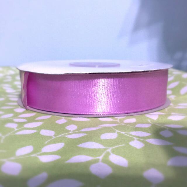 2公分紫粉色緞帶