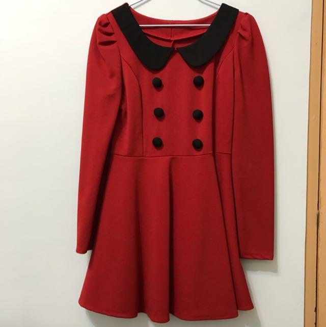 童話紅洋裝