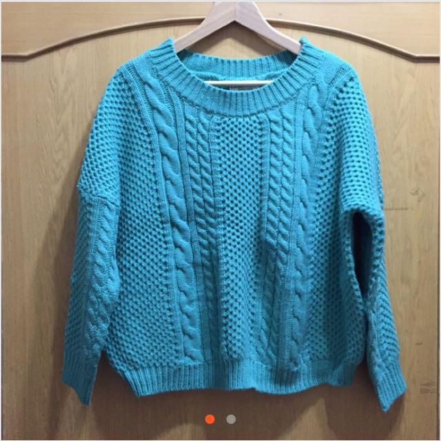 果綠針織毛衣