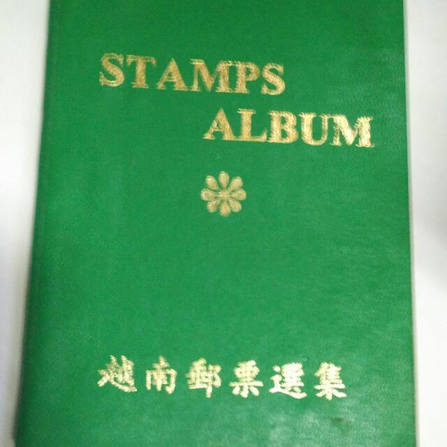 越南 郵票 共有81張郵票 書皮已掉落 81 sets of Vietnamese stamps book cover. Falling