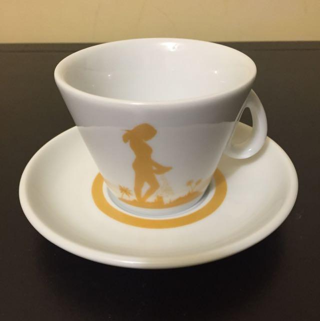 義大利 金杯咖啡杯 全新