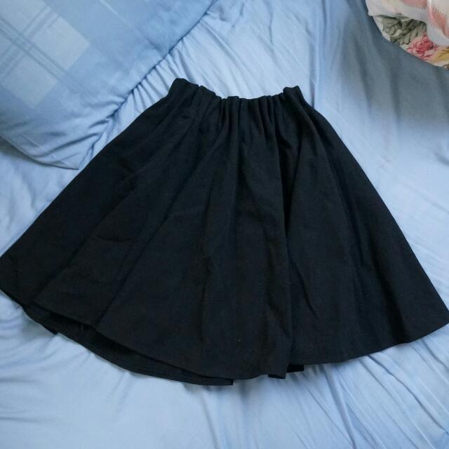 正韓 厚 有內裡 保暖 絨布材質裙子