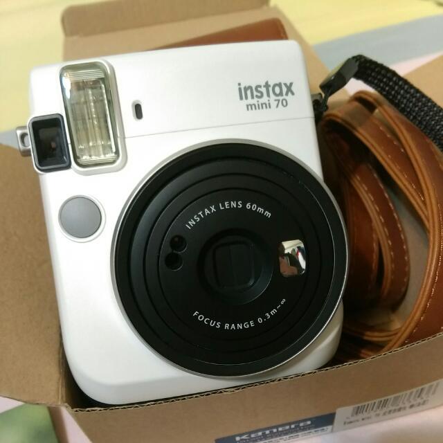 富士 Mini70拍立得相機(月光白)