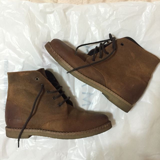 落地一次 Viventy全牛皮休閒靴 Timberland款 36碼