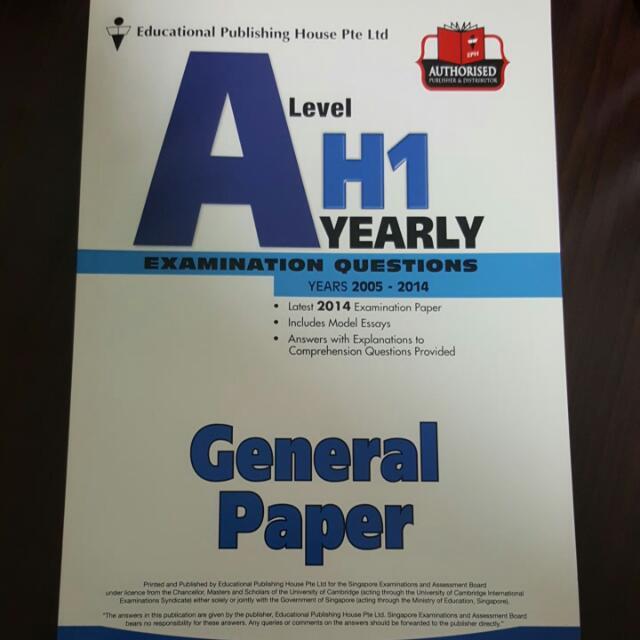a level paper 1 gp
