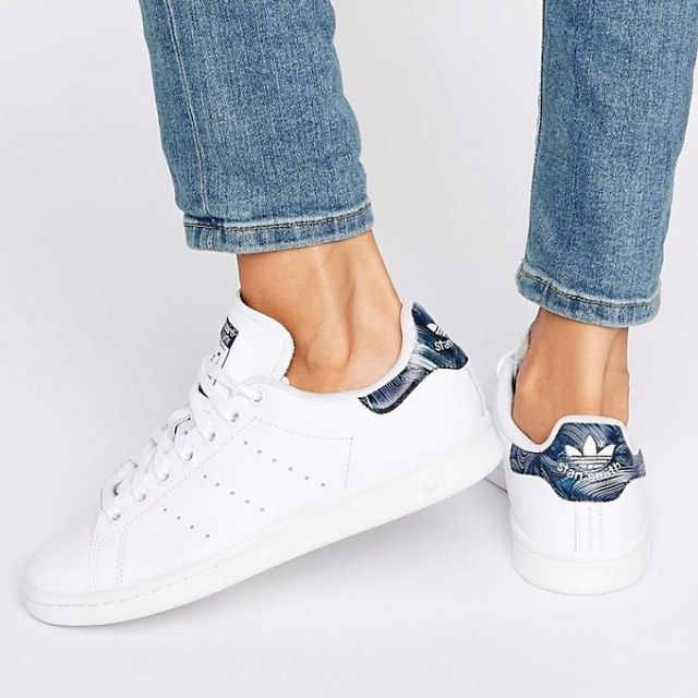 separation shoes 80581 83e5d adidas Originals Exclusive Geology Print Stan Smith Trainers ...