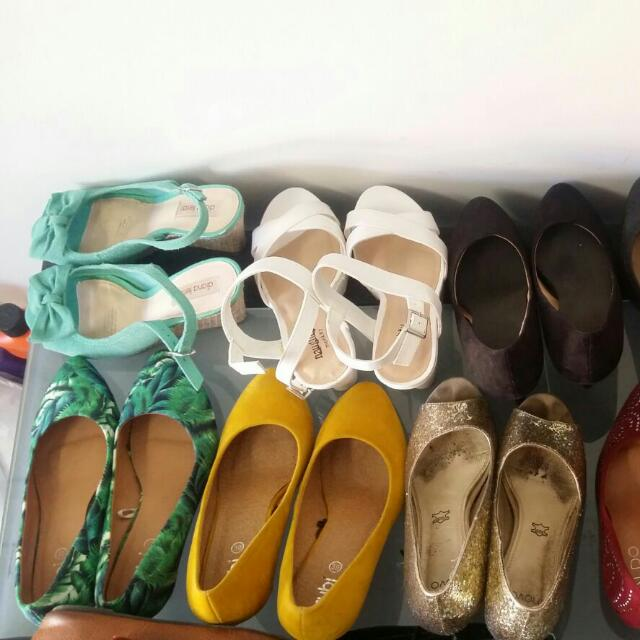 All Heels And Flats Are Almost New. May Be Worn  Only Twice. Price Range Is Max UP to $10...