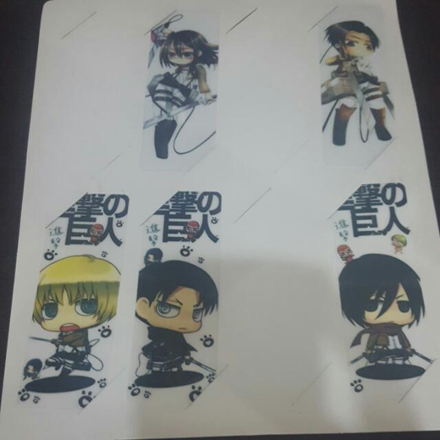 AoT Chibi Bookmarks