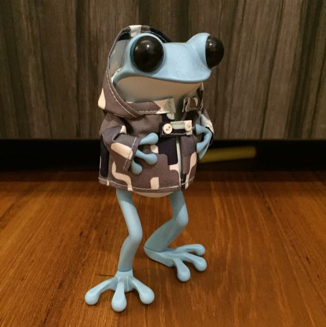 APO Frogs Rainy Monday by twelveDot ( Blue Rain Coat camouflage ...