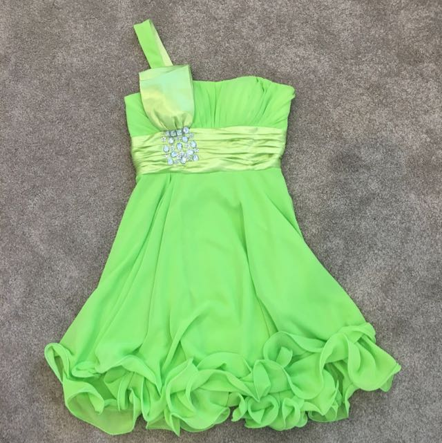 Bright/Lime Green Cocktail Party Dress