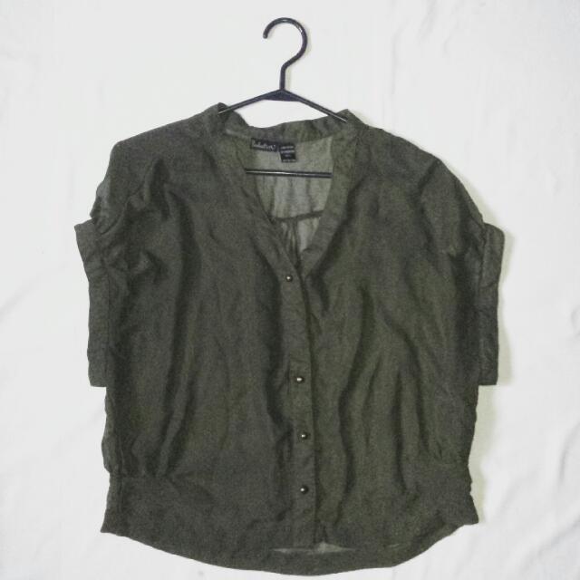 button-up short-sleeve top