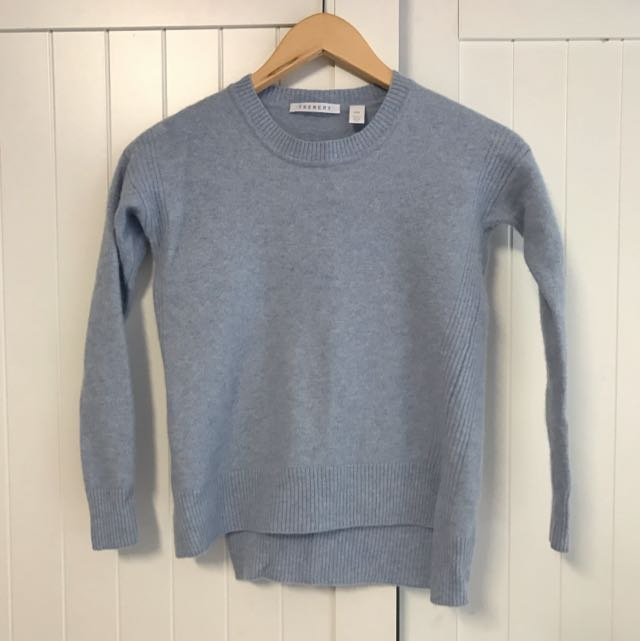 Cashmere Blend Pale Blue Knit XXS
