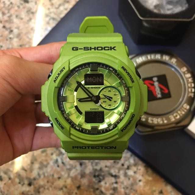 【CASIO】G-SHOCK/ (綠/GA-150A-3ADR)