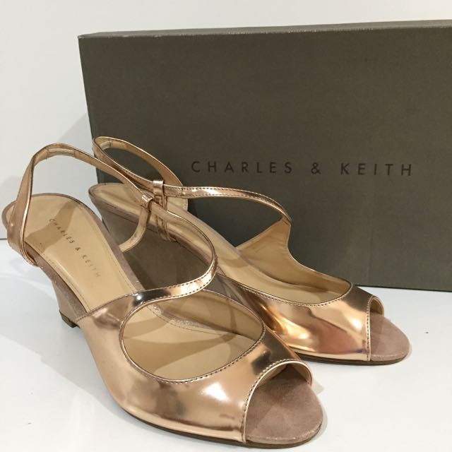 Authentic Charles&Keith Rose Gold Size 38