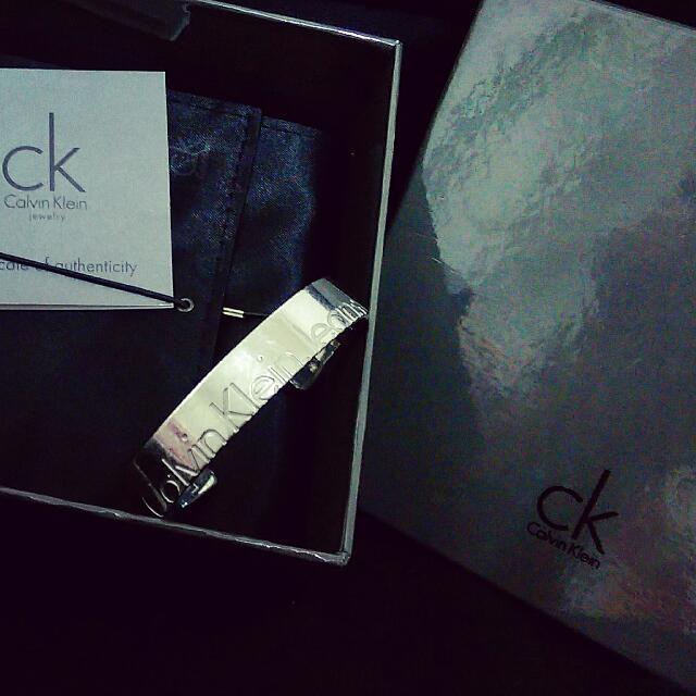 含運✨CK/Calvin Klein開口式白鋼手環