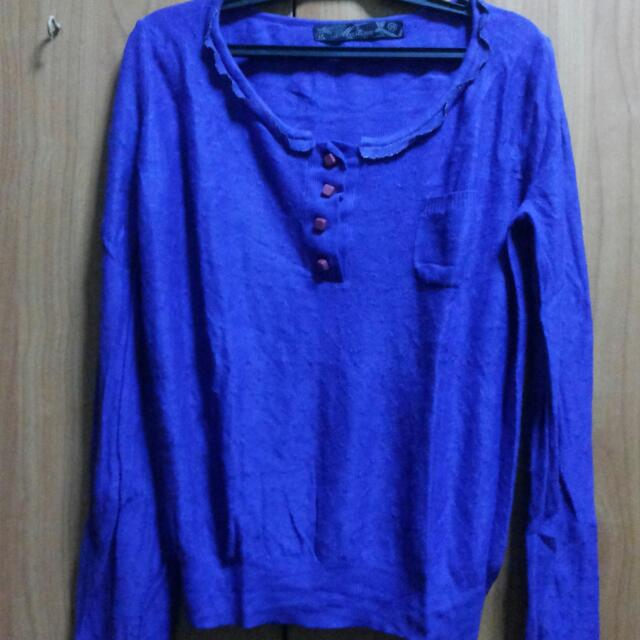 Dark Blue-Purple Sweater Top