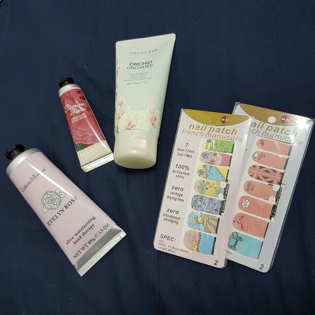 Hand Creams And Nail Patches!!!
