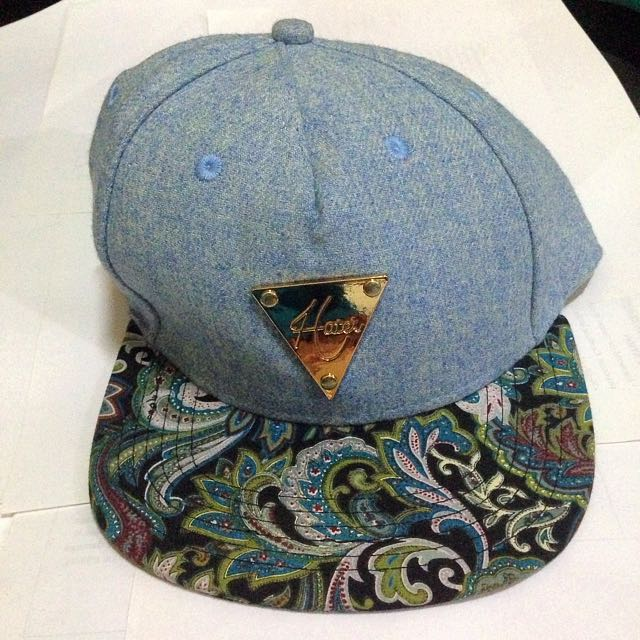 Haters Snapback Hat Blue Paisley