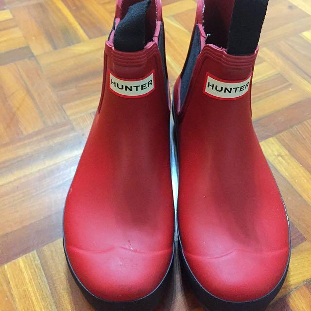 Hunter 雨靴 短靴 踝靴 37號