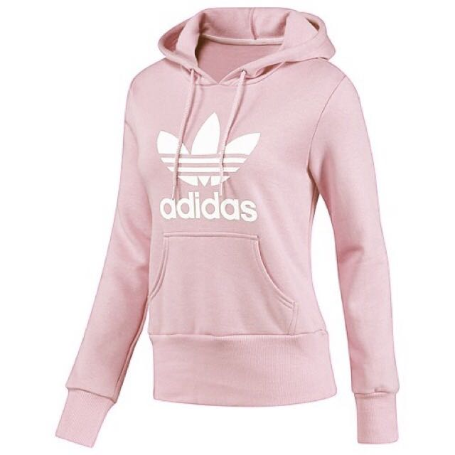 d803bf78676f INSTOCK Adidas Baby Pink Oversized Hoodie