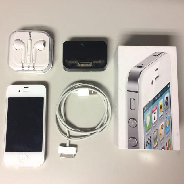 iPhone 4S 16g 白 IOS 6.1.3  有盒 可議