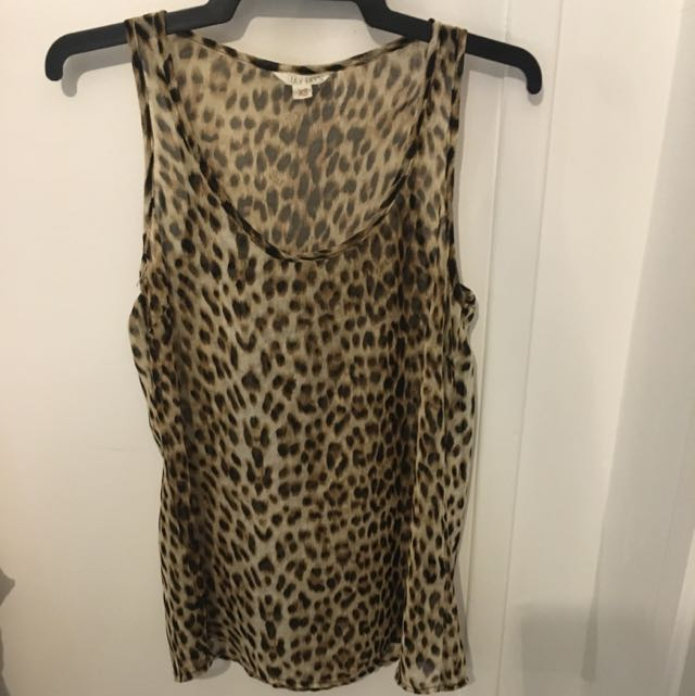 Jay Jays; Leopard print chiffon singlet