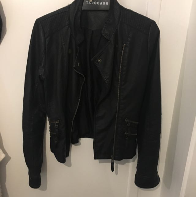 Just Jeans; Leather biker jacket