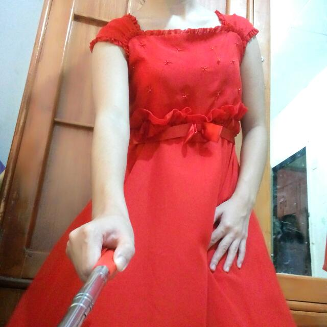 REPRICED❗❗❗ Kaboosh Lady In Red Simple Elegant Dress