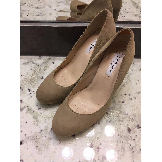 LK Bennett Nude / Sand Court Sledge Block Heel Platform Shoes 38.5 8.5