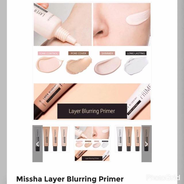 MISSHA Layer Blurring Primer from Korea